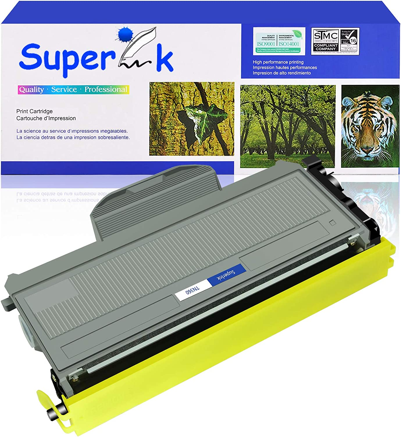 Black, 1-Pack SuperInk High Yield Compatible Toner Cartridge Replacement for Brother TN360 TN-360 TN330 TN-330 to use with HL-2170W HL-2140 DCP-7040 MFC-7840W MFC-7320 MFC-7340 MFC-7345N