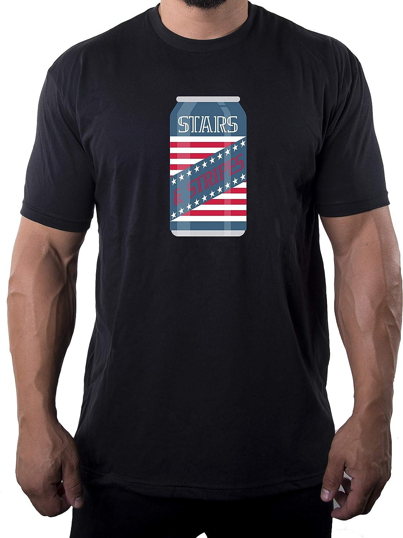 Mato & Hash Stars and Strips Beer T-Shirt, Men's Graphic T-Shirts, Patriotic Shirts