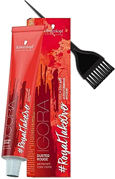 Schwarzkopf Igora Royal Adquisición Dusted Rouge permanente del pelo color crema (Con elegante Tinte cepillo del aplicador) Color de pelo Crema ...