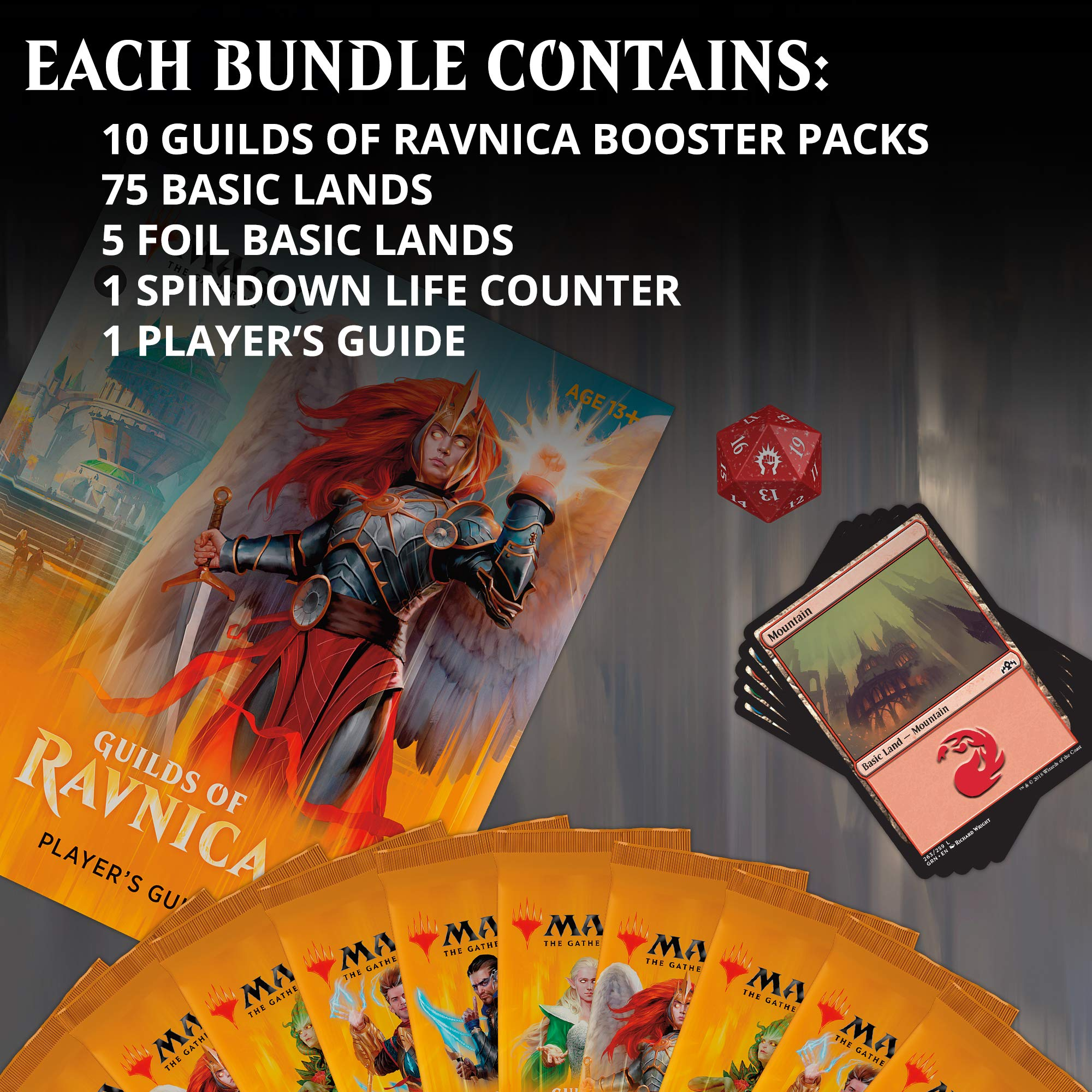 Magic: The Gathering Guilds of Ravnica Bundle | 10 Booster Packs + Land Cards (230 Cards) | Accessories | New Set by Magic: The Gathering (Image #2)