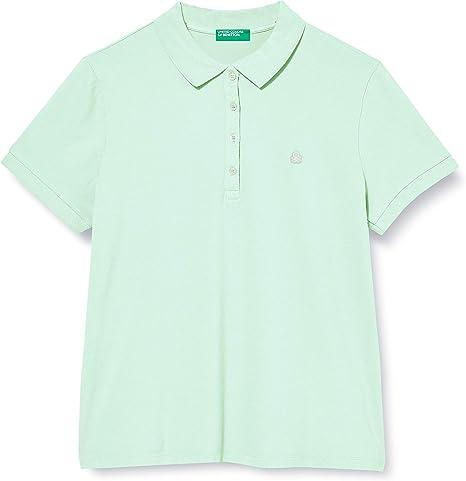 Anormal deuda Cielo  United Colors of Benetton Damen Polo Poloshirt: Amazon.de: Bekleidung