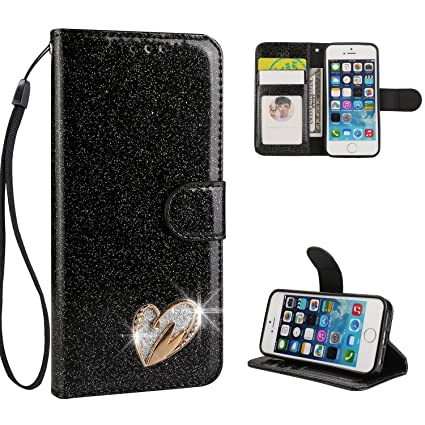 iPhone 5S Carcasa Case, honghu Shop brillantes Bling Bling ...