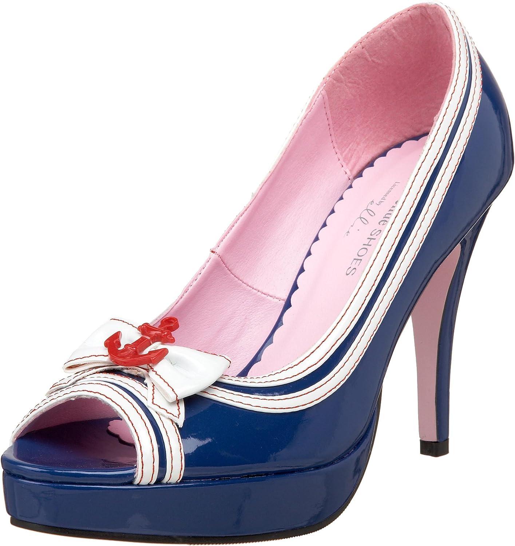 Leg Avenue Ella 5 Inch Open Toe Glitter Pump Platform Heel 3 Colors!