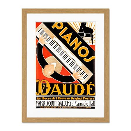 Vintage Advert Art Deco Style Piano Daude Music Decoración ...