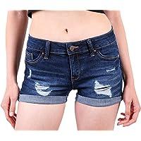 2237df588 Wax Women s Juniors Body Enhancing Denim Shorts