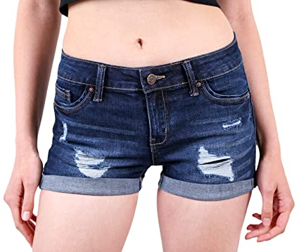 da6af656cbb Foxy Grey Womens Jean Shorts