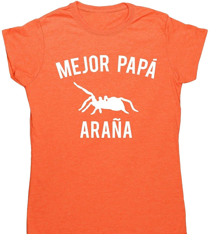 HippoWarehouse Mejor Papá Araña camiseta manga corta ajustada para mujer: Amazon.es: Ropa y accesorios