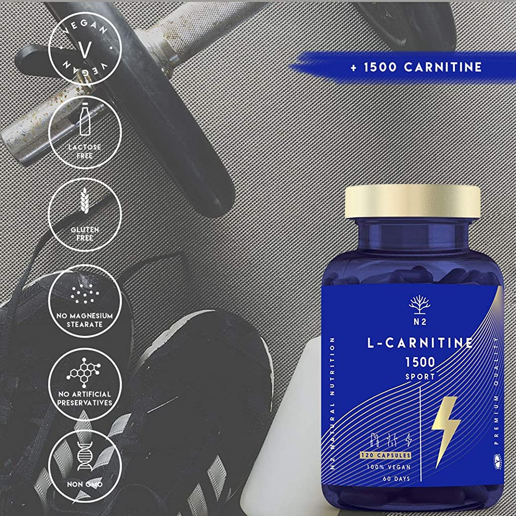 L-CARNITINA Natural 1500 Complemento L Carnitina Quemagrasas