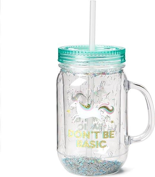 Amazon.com: Vasos de plástico Fun Mason: gran resistencia a ...