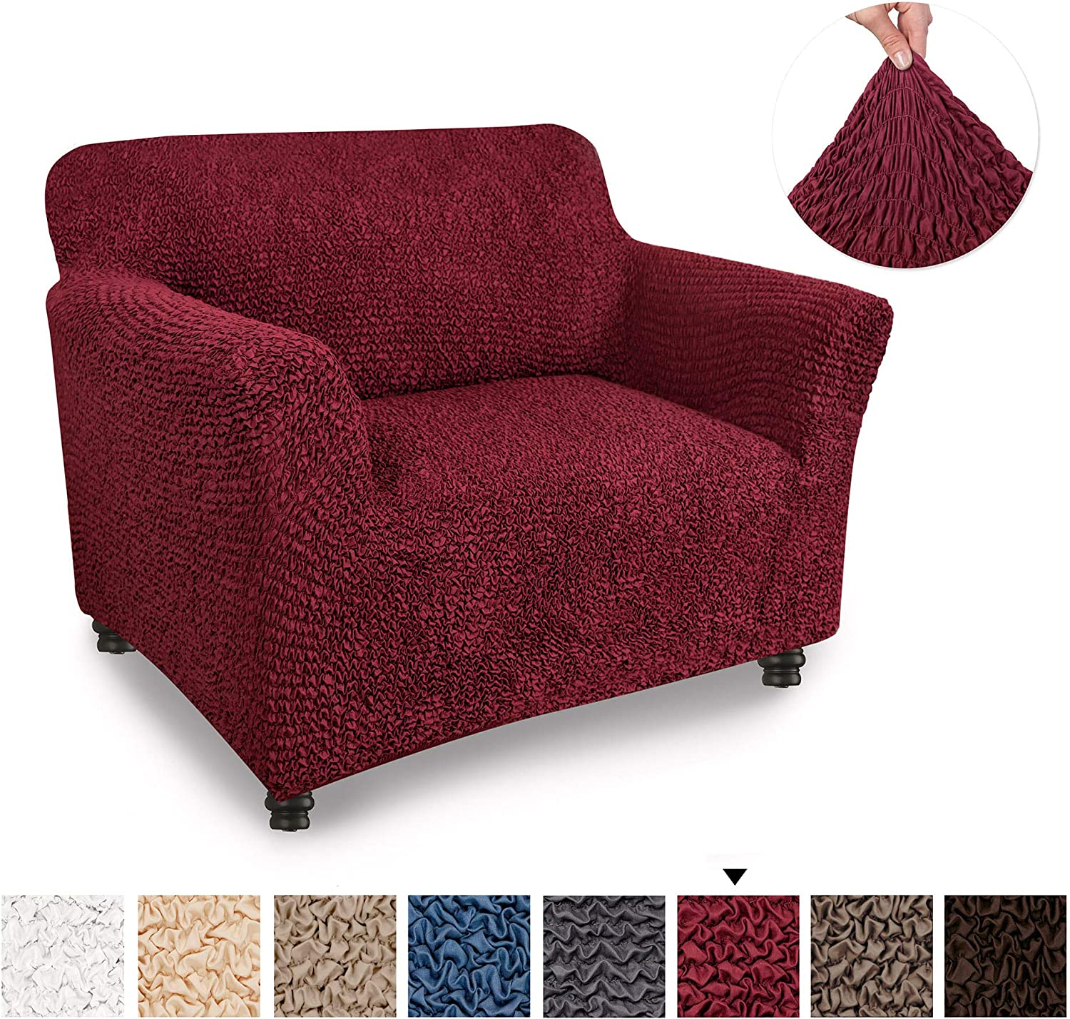 Chair Cover Armchair Cover Armchair Slipcover Soft Polyester Fabric Slipcover 1 piece Form Fit Stretch Stylish Furniture Protector