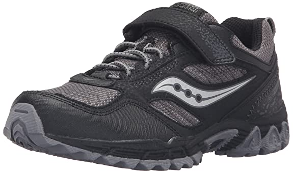 Saucony Boys Excursion Shield A/C Sneaker (Little Kid), Black/Grey, 3 M US Little Kid