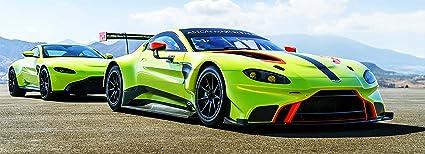 Amazon Com Ng 2019 Aston Martin Vantage Poster 58x21 Large Race Car