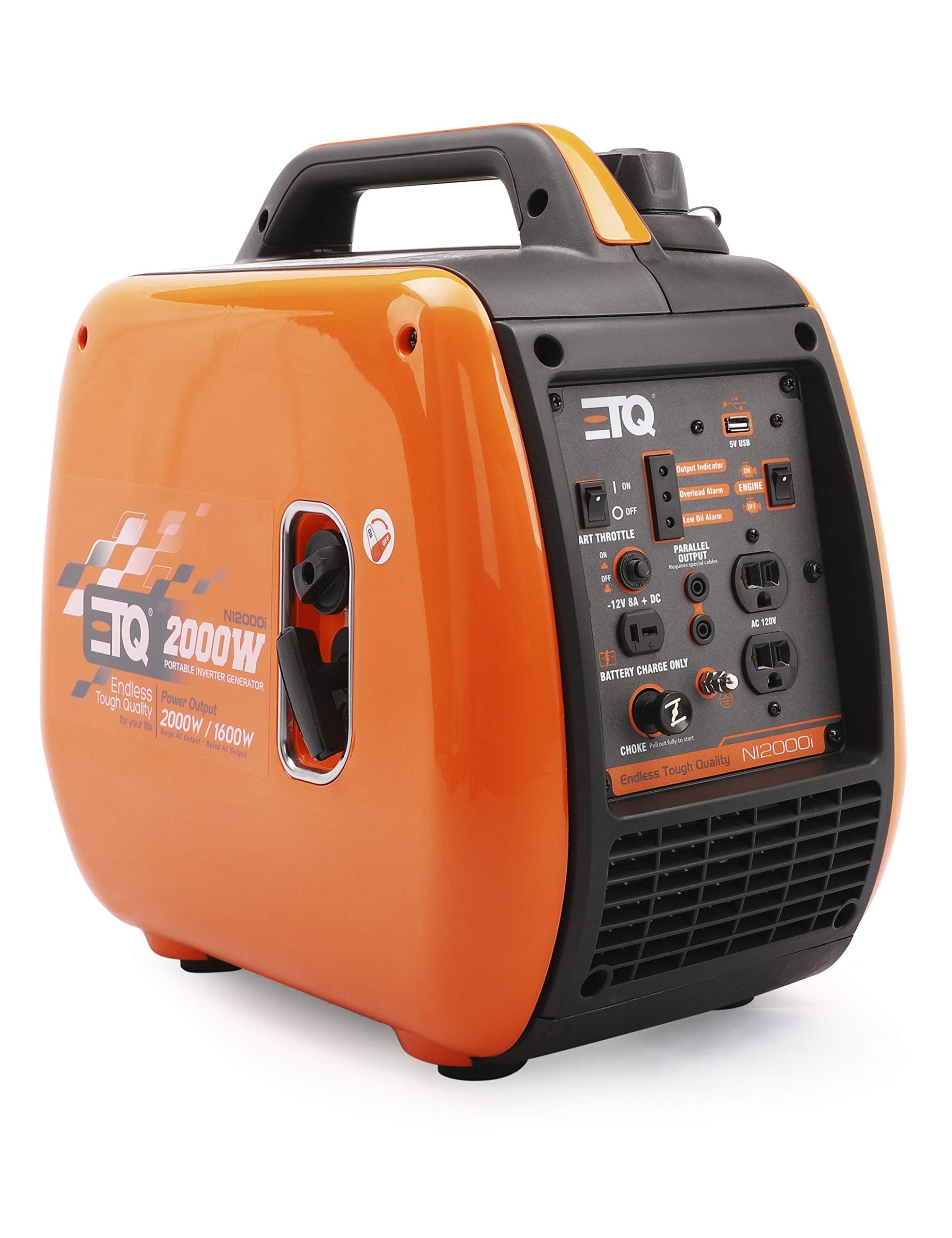 Etq NI2000i Tough Quality 2000-Watt Portable Gas Powered Inverter Generator, Extremely Quiet- CARB Compliant by Etq