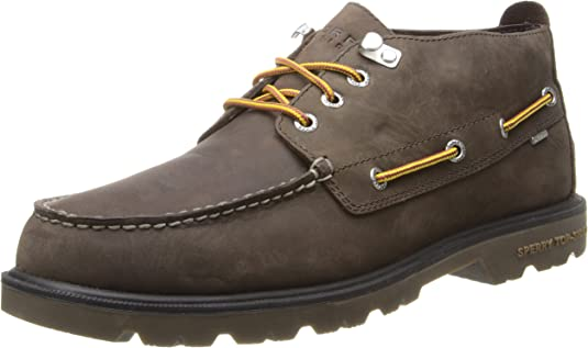 MSRP $170 Sperry Top-Sider Men/'s Annapolis Leather Ankle Boot Black
