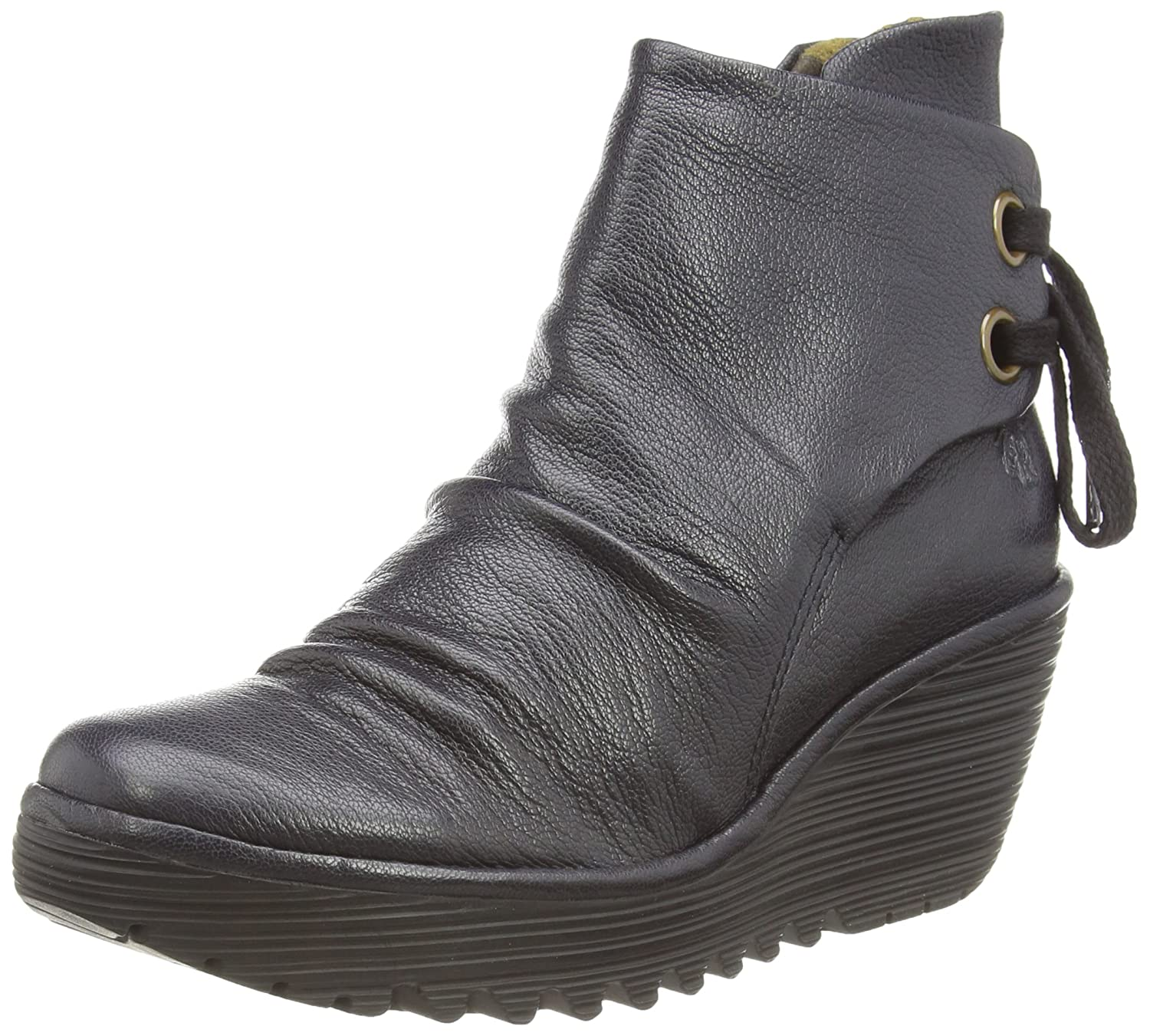 Fly London Womens Black Yama Mousse Boots