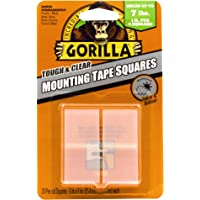 Gorilla 6067202 Tough & Clear Mounting Tape Squares, 25.4mm x 25.4mm, Clear (24 Piece)