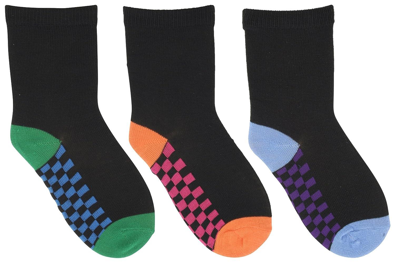 RJM Boys Football Design /& Black with Checked Soles Socks