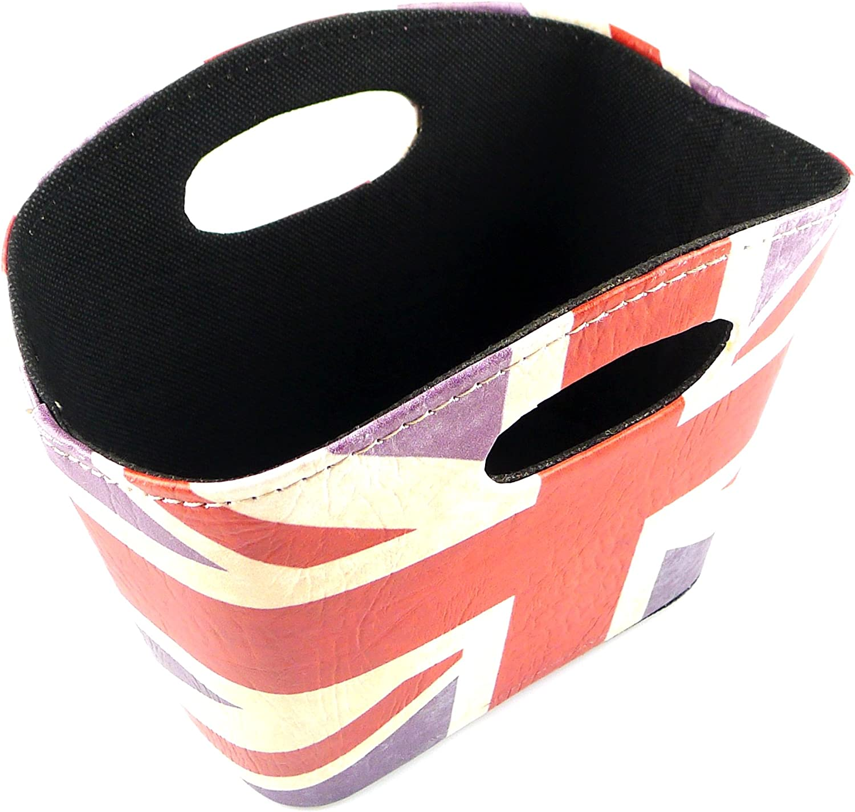 kirinstores Union Jack Design Aufbewahrungskorb PU Leder Magazin Zeitung Korb British Style Schreibtisch Organisatoren A