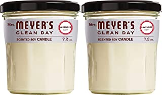 product image for Mrs. Meyer's Clean Day Scented Soy Aromatherapy Candle, 35 Hour Burn Time, Made with Soy Wax, Lavender, 7.2 oz- Pack of 2