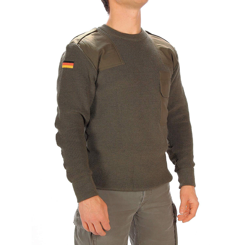 Genuine Issue German Commando Sweater, Military Surplus, Olive Drab
