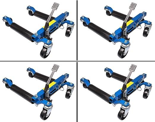 Herkules Werkzeuge 4x Rangierhilfe Hydraulisch Wagenheber Autoheber Rangierroller Rangierheber Auto