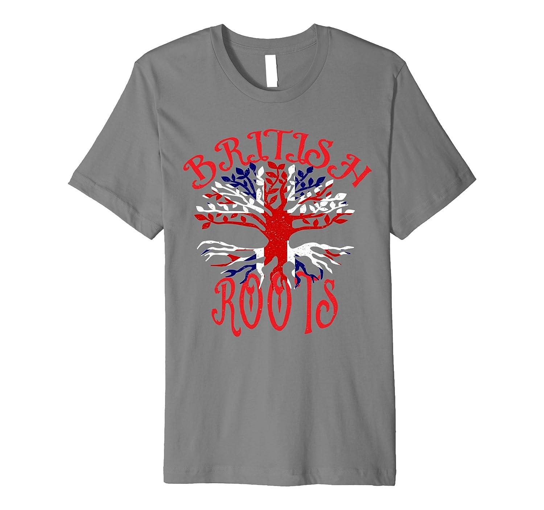 British Roots Family Tree Union Jack Flag UK T-Shirt