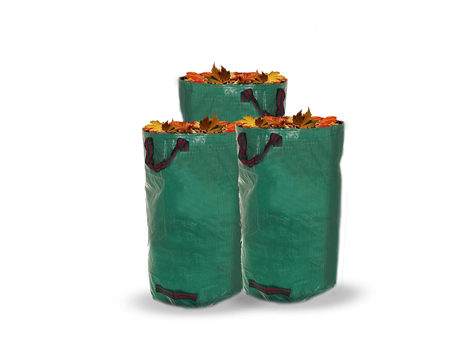 FiNeWaY@Heavy Duty Garden Bag Waste Weeds Leaves Bin Cutting Refuse Sack Bag 82L Each Set of 2 Bags LIVIVO