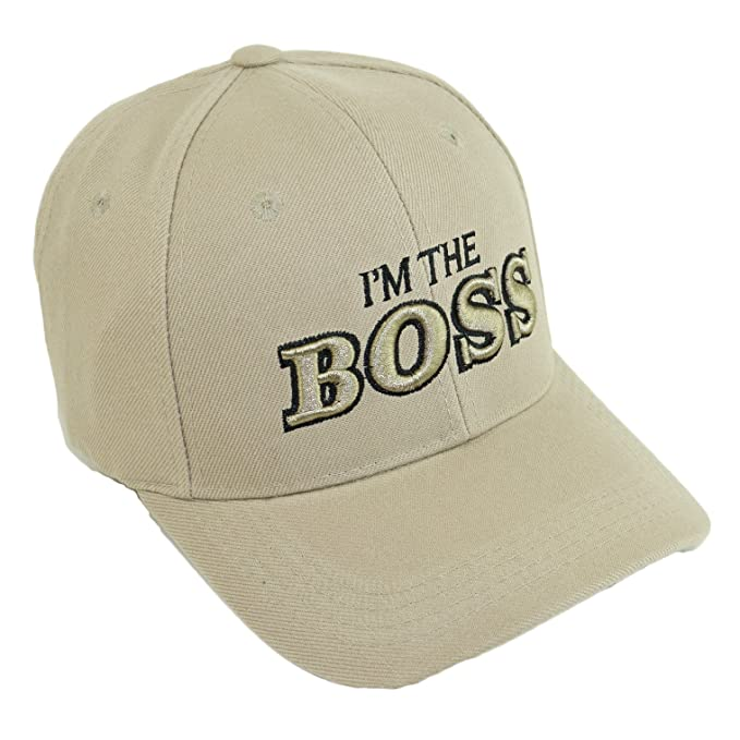 6dd15ee0a8b1e Amazon.com  I m The BOSS Embroidery Hat Adjustable Baseball Cap ...
