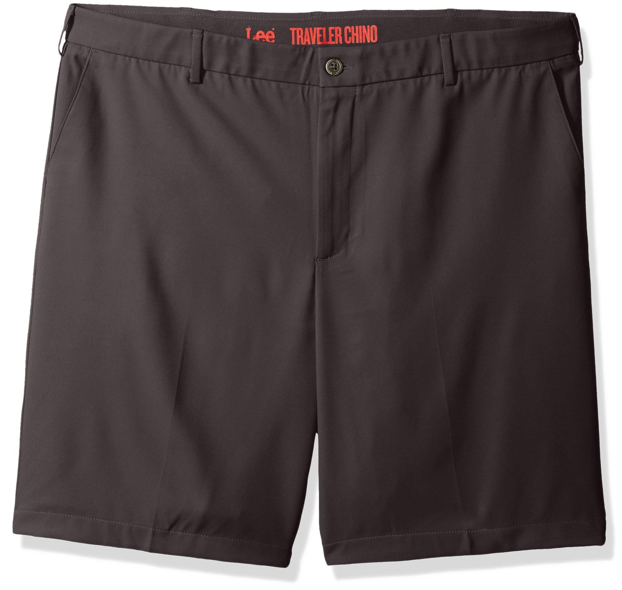 Lee Men's Big-Tall Performance Series Traveler Short, Medium Gray, 46