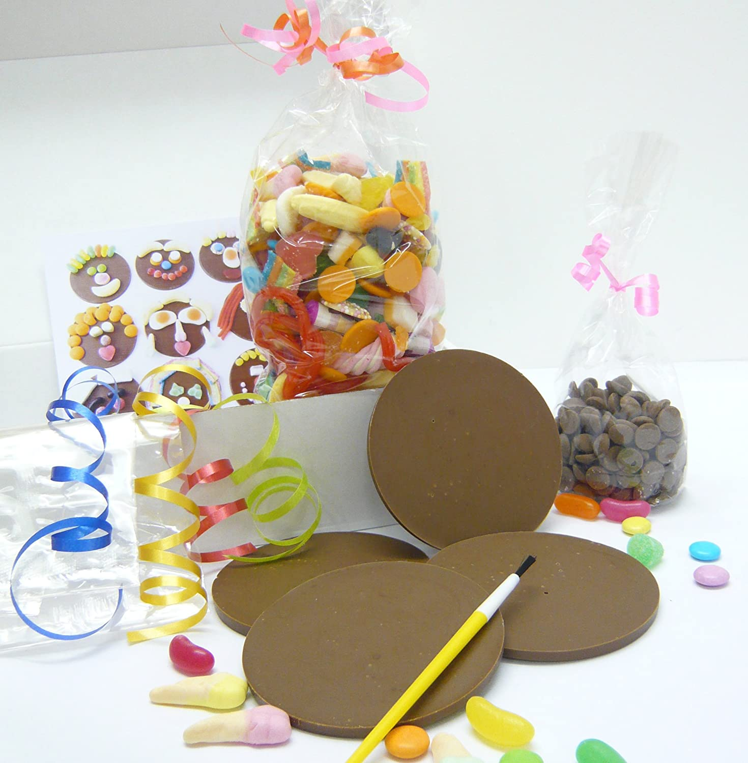 Funny Faces Kit Chocolate And Sweets Kit Make Your Own