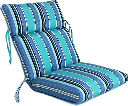Comfort Classics Inc. 22W x 44L x 5H Hinge at 24″ Sunbrella Outdoor CHANNELED Chair Cushion