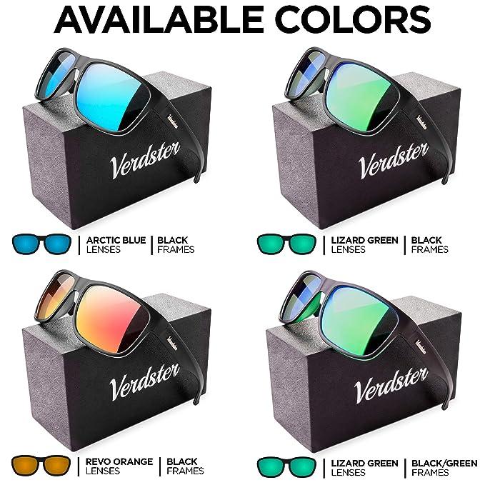 Verdster Gafas de sol Polarizadas TourDePro Para Hombres - Lentes Espejados - Protección UV - Incluye Un Estuche Duro, Funda Suave Y Un Pañuelo