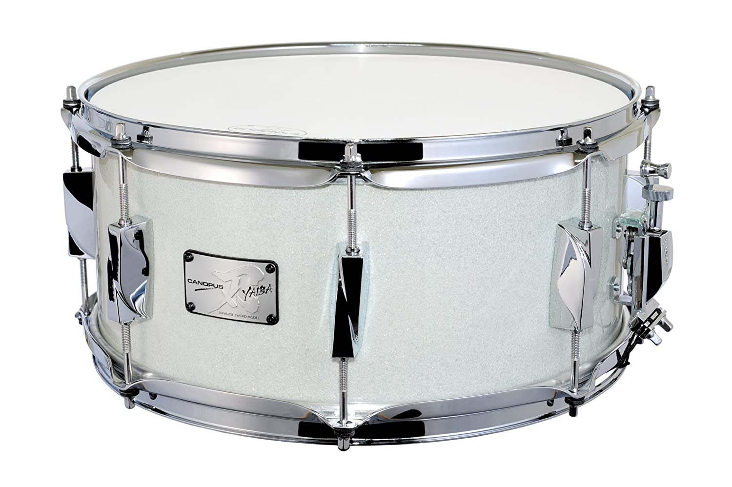 CANOPUS カノウプス スネアドラム 刃(YAIBA) Birch 6.5x14 Snare Drum Ice White Sparkle LQ   B015RNG2DS