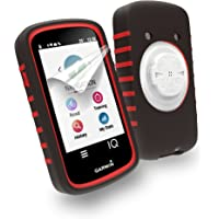 Tuff-Luv 2nd Gen - Carcasa de Silicona para Garmin Edge 1030 (Doble Capa), Color Negro y Rojo