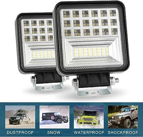 LARS360/® 48W LED auto luce da lavoro faro Spot Flood Combo Impermeabile Proiettore Riflettore Worklight per Fuoristrada SUV ATV UTV Offroad lampada lavoro trattore escavatore camion 4x48W