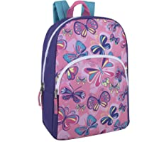 """Trail maker Kids Character Backpacks for Boys & Girls (15"""") with Adjustable, Padded Back Straps (Butterflies)"""