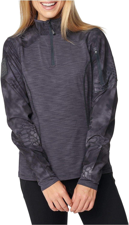 62387 M Kryptek Typhon 5.11 Tactical Womens Kryptek Rapid Half Zip Sweater