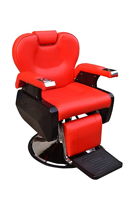 BarberPub All Purpose Hydraulic Recline Barber Chair Salon Beauty Spa Styling Equipment 6154-S8702 (Red)