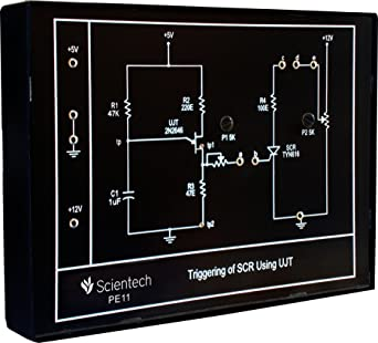 pe11 triggering of scr using ujt experiment board and trainer kitpe11 triggering of scr using ujt experiment board and trainer kit with 1 year warranty without power supply amazon in industrial \u0026 scientific
