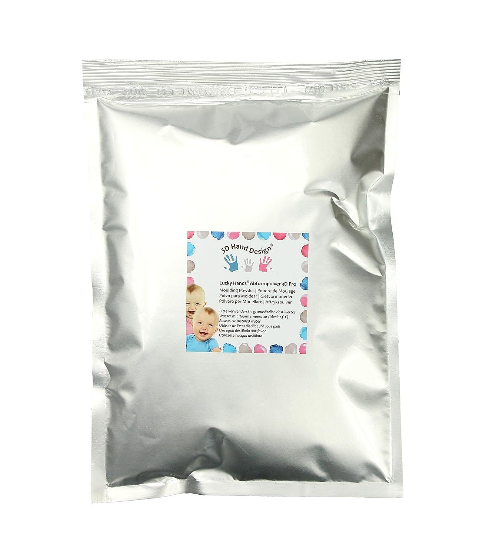 Lucky Hands/® polvo de moldear 3D Pro sin polvo para rellenar//de colada alginato para moldes disponible como paquete complementario 300 g