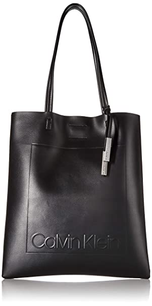 Calvin Klein Nora Novelty North/South Magazine Tote, Black