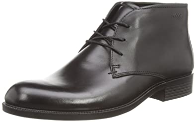 Mens Boots ECCO Harold Plain Toe Boot Black