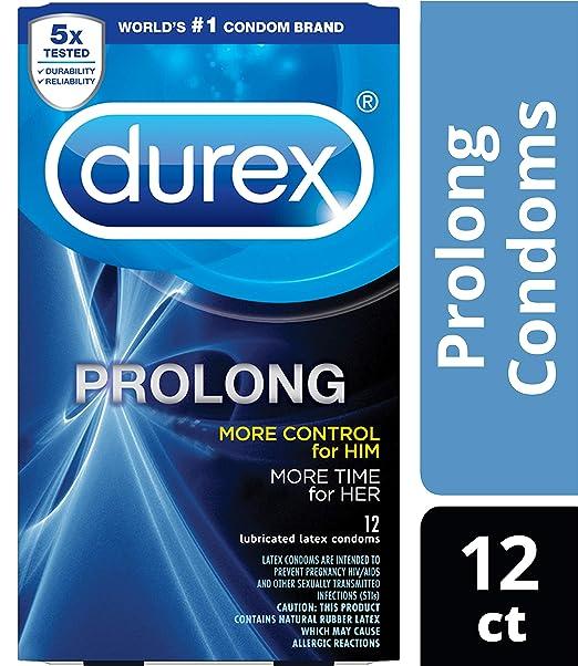 Durex Condom Prolong Natural Latex Condoms