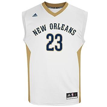 Adidas NBA réplica de la Camiseta de la casa, Hombre, Home, Blanco: Amazon.es: Deportes y aire libre