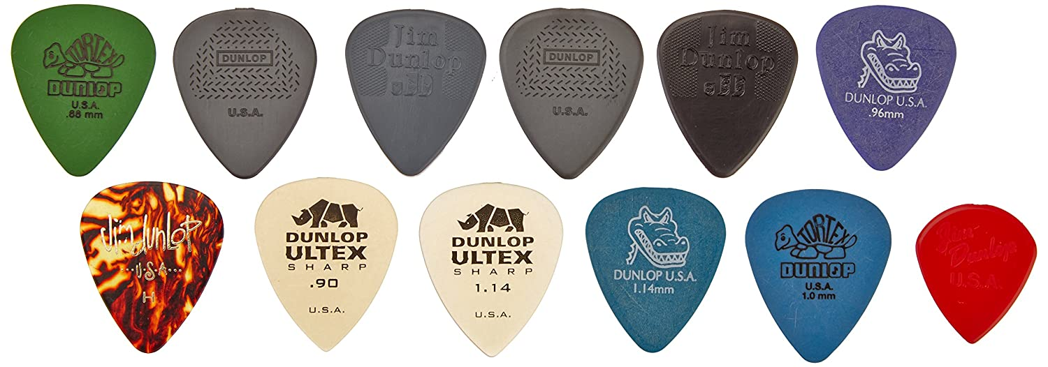 Dunlop PVP101 Pick Variety Pack, Assorted, Light/Medium, 12/Player's Pack 12/Player's Pack KMC Music Inc