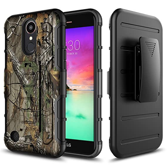 best website c8d9e f2197 Star [Armor Holster] LG Rebel 3 LTE Phone Case, LG Rebel 2 LTE Case, LG  Fortune Case, with [Premium HD Screen Protector Included] Dual Layers ...