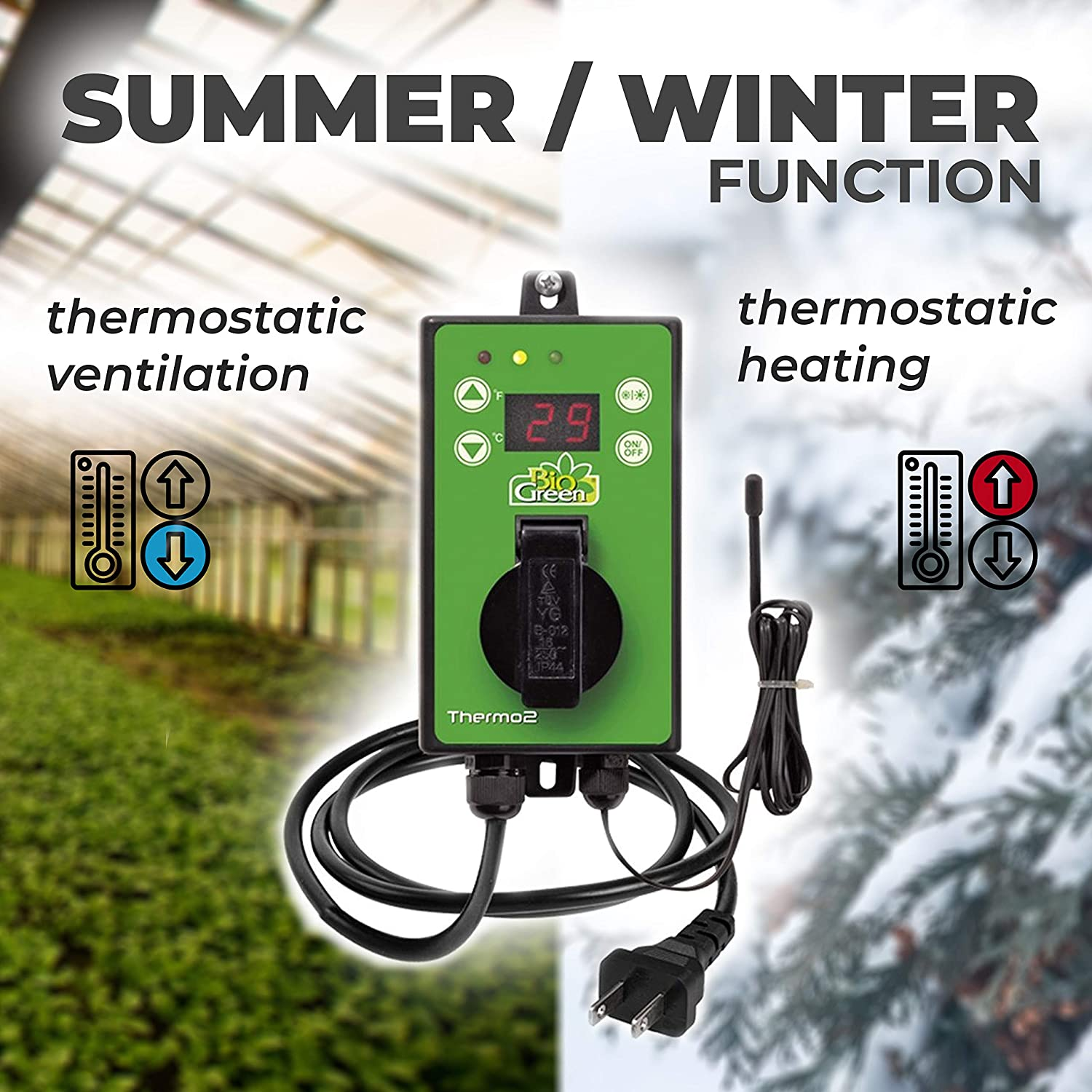 Bio Green TER 2 Thermo 2 Thermostat Num/érique 3000 W