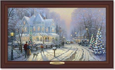 Christmas Home Decor Christmas Gathering Canvas Wall Art Print