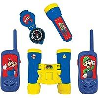 LEXIBOOK- Nintendo Super Mario - Juego Completo de Aventuras para Niños - Walkie-Talkies, Prismáticos, brújula, Linterna…
