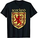 Scottish Rampant Lion T-Shirt Scotland Coat of Arms Shirts
